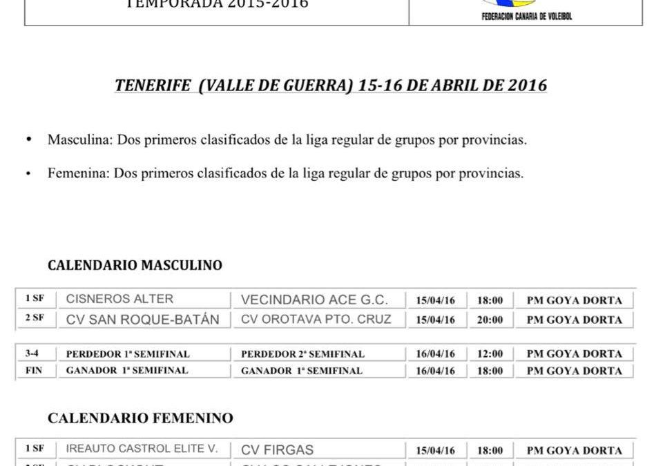 Y ahora, Campeonato de Canarias Senior Femenino 2016